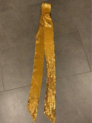 Cinturón de tela color oro-marrón arena