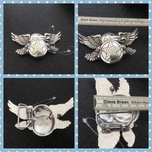 Reptile's House Cinturón de cuero color plata-gris claro metal