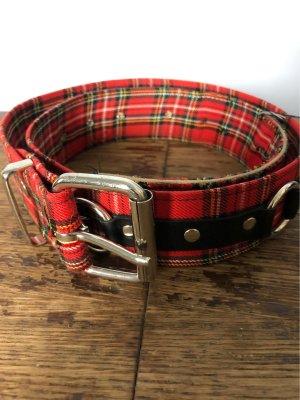 Unbekannte Marke Cinturón de pinchos negro-rojo