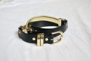 Gürtel schwarz/gold