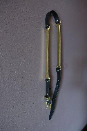 Gürtel, schwarz, gold, selten getragen, H&M