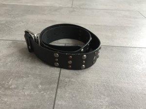 C&A Cinturón de cuero de imitación negro