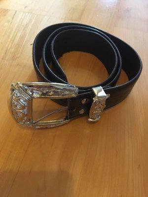 keine Faux Leather Belt bordeaux-black
