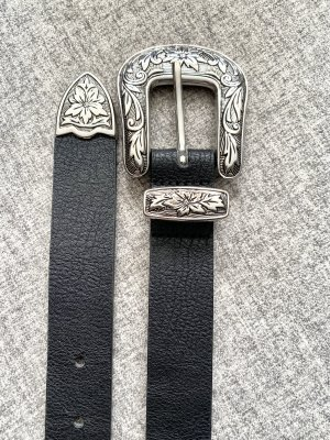 Gürtel Silber- Schwarz