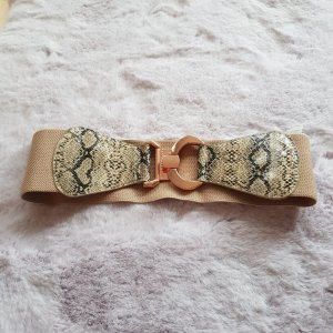 Sisley Cinturón de cuero de imitación beige claro