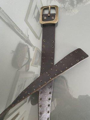 Vanzetti Cintura di pelle marrone scuro