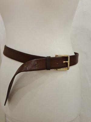 Vera Pelle Cinturón de cuero marrón