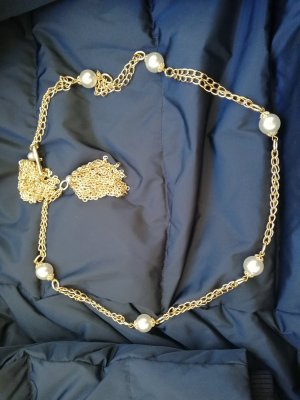 Original Vintage Chain Belt white-gold-colored