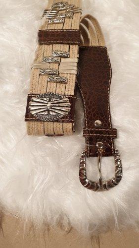 Waist Belt sand brown-brown mixture fibre