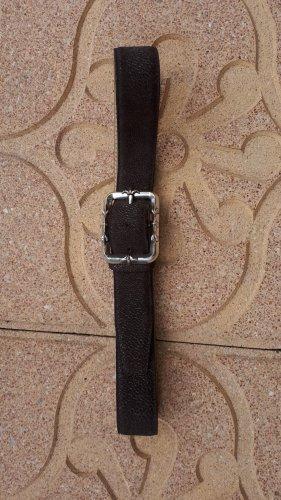 VMP Cinturón de cuero marrón oscuro Cuero