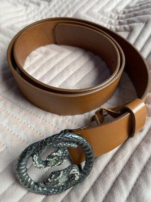 abro Leather Belt bronze-colored