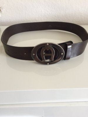 Aigner Leather Belt black brown