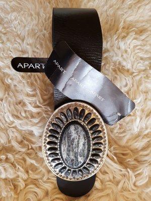 Apart Cintura di pelle nero Pelle