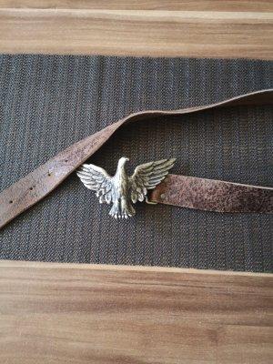 Arizona Leather Belt silver-colored-black brown