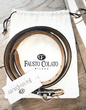 Fausto colato Leather Belt multicolored