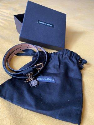 Dolce & Gabbana Tailleriem zwart-goud Leer