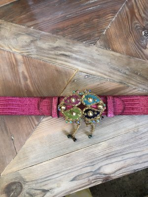 Etro Hebilla del cinturón violeta