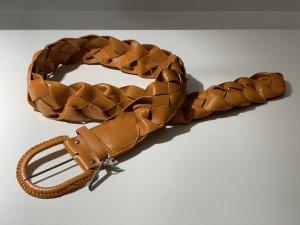 Friis & Company Cinturón trenzado marrón claro