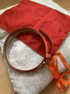 Hugo Boss Cinturón de cuero rojo claro-salmón