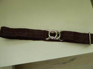 Marc Cain Cinturón trenzado marrón-negro