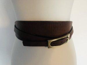 Massimo Dutti Cinturón pélvico marrón oscuro-color oro