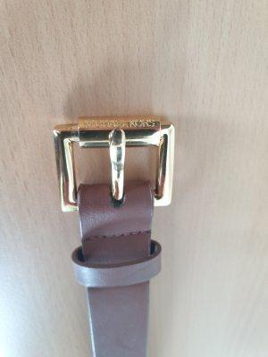 Michael Kors Cinturón de cuero marrón claro Cuero