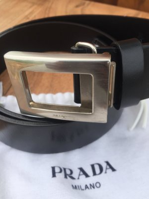 Prada Leather Belt black leather