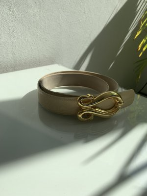 Escada Leather Belt cream