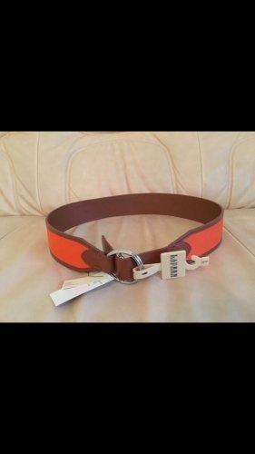 Ralph Lauren Cinturón marrón-naranja