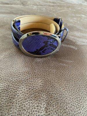 René Lezard Cinturón de cuero negro-azul oscuro Cuero