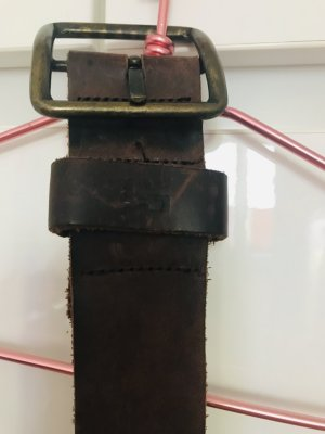Replay Studded Belt brown leather