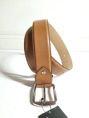 SHOEPASSION Leather Belt brown-cognac-coloured