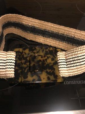 Zara Ceinture en tissu brun sable-taupe