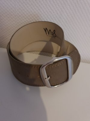 Faux Leather Belt taupe