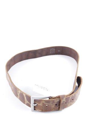 Boucle de ceinture brun-rose chair style décontracté