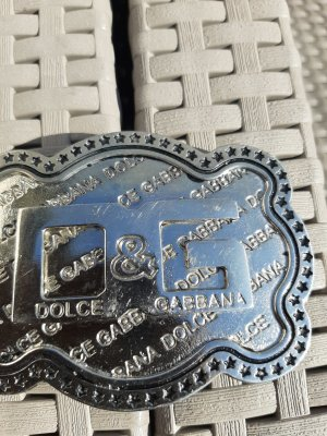 Dolce & Gabbana Belt Buckle silver-colored