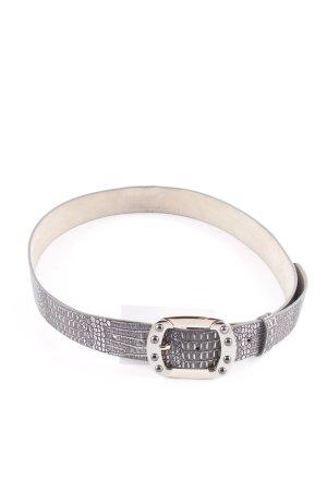 Belt Buckle grey herringbone pattern casual look