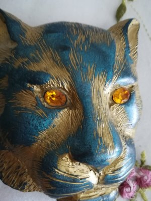 no name Fibbia per cinture blu acciaio-blu fiordaliso