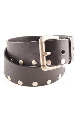 Boucle de ceinture noir-argenté style mode des rues