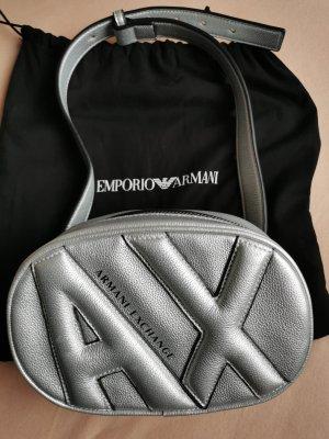 Armani Exchange Buiktas zilver Polyurethaan