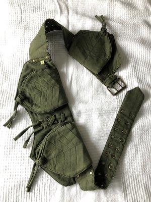 Riñonera verde oscuro Algodón
