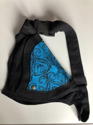 Gürteltasche Bauchtasche blau schwarz 1er Dreieck Canvas Baumwolle
