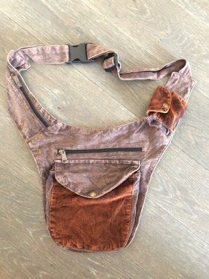 Bumbag brown cotton