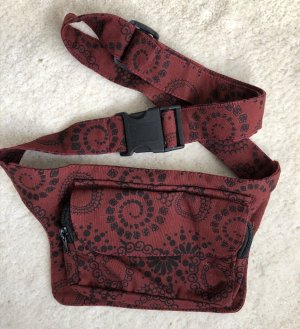 Bumbag brown red cotton