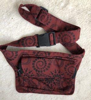 Gürteltasche Bauchtasche Sidebag Dunkelrot schwarz Spirale