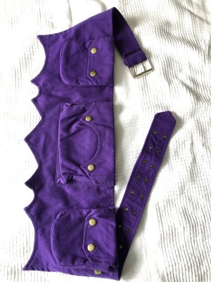 Bumbag dark violet cotton