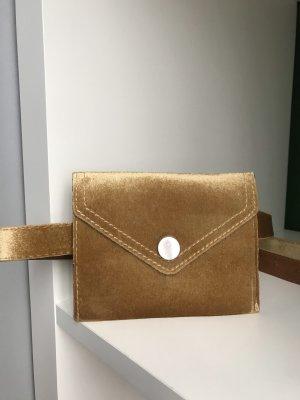 Sabo Skirt Riñonera color oro-marrón arena