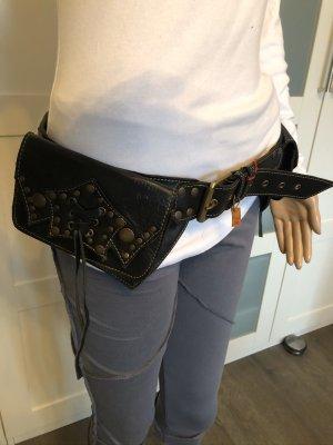 Gürteltasche Sidebag Hipbag Bauchtasche Leder Larp Mittelalter