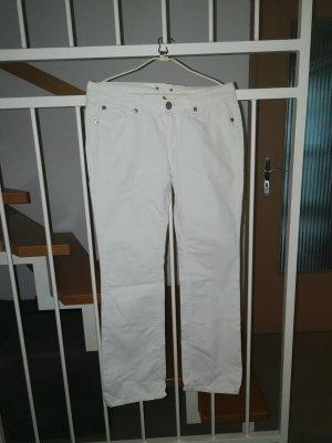 Guess Jeansy o kroju boot cut biały