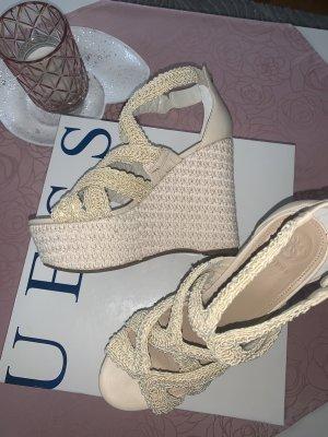 Guess Sandalo alto con plateau crema-beige chiaro